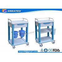 ABS clinical nursing trolley utility cart waste trolley bin with dustbin Manufactures