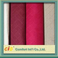 100% Polyester Embroidery Faux Suede Fabric , Sofa Upholstery Fabric Manufactures