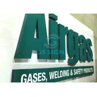 Green Color 3D Lettering Signage , Dimensional Acrylic Letters For Outdoor Signs Manufactures