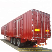60T Shipping Container Van Curtain Trailer 12R22.5 Tire Manufactures