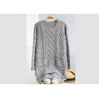Leisure Loose Womens Knit Pullover Sweater Cables Young Girl Colleague Style Manufactures