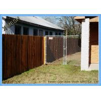 Vinyl Residential Chain Link Security Fence Steel Wire Property Boundary Manufactures