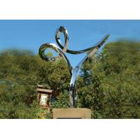 Professional Stainless Steel Outdoor Sculpture , Stainless Steel Art Sculptures