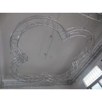 Fireproof Aluminium Arched Roof Trusses Slivery Coating Strong Load Capacity