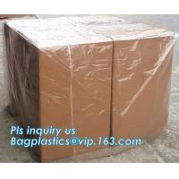 Commercial clear gussted bags for pallet covers, Plastic vinyl cover with square bottom poly pallet cover, Tarpaulin Pal Manufactures