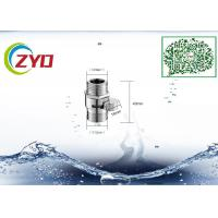 """Buy cheap G1/2"""" Double Male Chrome Finish Bathroom Shower Faucet Water Diverter With Water from wholesalers"""