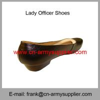 Wholesale Cheap China Military Leather Army Police Officer Shoes