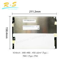 Matte 10.4 inch 640*480 VGA tft lcd panel 80/60/80 , Brightness industrial lcd monitor Manufactures