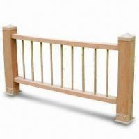 WPC Outdoor Railing Fence, Easy to Install and Clean, Eco-friendly Manufactures