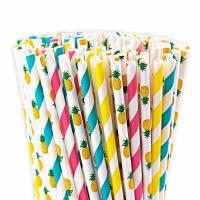 China Food Grade Bleached Coloured Paper Straws With Harmless Non Toxic Ink on sale