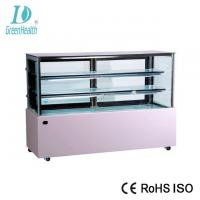 1.5 M White Commercial Cake Display Freezer With Marble Base / 3 Layers Manufactures