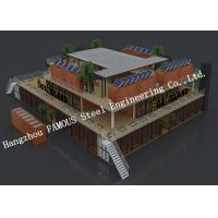 Customised Modular Prefab Container House For Shopping Center Or Coffee Bar Manufactures