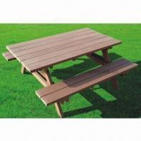 WPC Picnic Table, Wood Plastic Composite, High Density and Degree of UV Stability Manufactures