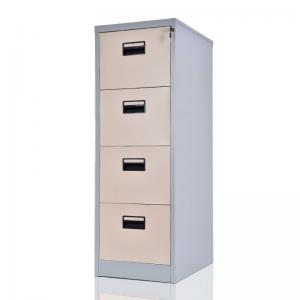Locking Steel KD 4 Card Box Vertical Drawer Cabinet Manufactures