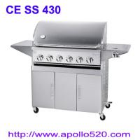 6Burner BBQ on Cart with side burner Manufactures