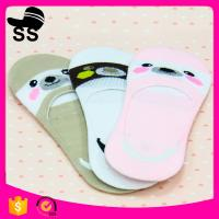 Polyester 95% Spandex 5% 28g 24cm 2017 Summer Wholesale Bear Pattern Pink Invisible Ship Winter boat socks Manufactures