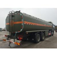 Stable Fuel Tanker Truck SINOTRUK HOWO 30 - 40 Tons For Oil Transportation 8X4 RHD Manufactures