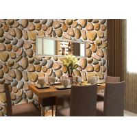 Cheap Cobblestone Printing Natural Style 3D Home Decoration Wallpaper CE / ISO / SGS / CSA Test for sale