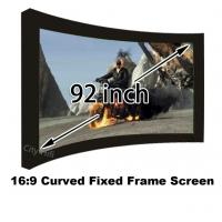 Buy cheap Wonderful Photo 92 Inch Arc Fixed Frame Wall Mount 4k Projection Screens 16:9 from wholesalers