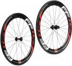 700c Carbon Fiber Bike Wheels Tubular 60mm Depth 23mm 25mm Wide Straight Pull Manufactures