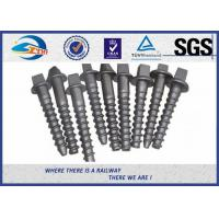 Buy cheap Custom Railroad Screw Spikes Q235 Concrete Sleepers Grade 5.6 from wholesalers