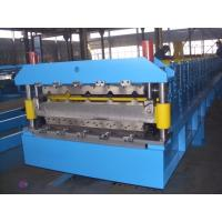 Galvanized Steel Double Deck Roll Forming Machine For Wall Panel 0.3-0.8mm Manufactures