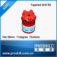 Dia 38mm and 11 degree 7 buttons Tapered Drill Bit Manufactures
