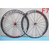 3K Brake Surface Tubeless Custom Bike Wheels , R36 Hubs Road Bike Clincher Wheelset Manufactures