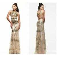 China Gorgeous Sheath Tulle Straps Halter Long Evening Dresses / Gowns For Prom on sale