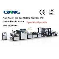Quality Multi Function High Speed Non Woven Bag Making Machine With Handle Fix Device wholesale