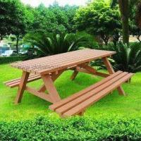 WPC Picnic Table with Steel Beam, Durable, Eco-friendly and Water-resistant Manufactures