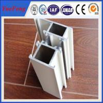 Silver anodized aluminium profiles fabricate windows&doors Manufactures