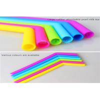 Curved Bent Drinking Silicone Straws Dishwasher Safe Any Colors Easy To Clean Manufactures