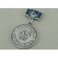 Zinc Alloy 3D Antique Silver Custom Awards Medals With Imitation Hard Enamel Manufactures