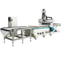 Buy cheap 4x8ft 2 station and 2 process cnc router with row drilling machine for furniture from wholesalers