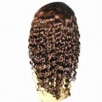 Buy cheap Brazilian Virgin Hair Full Lace Wig w/ Bleached Knots, Various Colors/Lengths from wholesalers