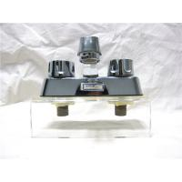 Double Handle Classical Kitchen Sink Faucets With Plated - Zinc / Plated- Nickel Body Manufactures
