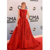 China Taylor Swift 2014 Red Elie Saab Long Evening Party Dresses / Gowns With Sequins Lace on sale