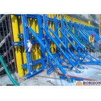 Solid Structure Single Sided Wall Formwork Vertical Waling With Push Pull Braces Manufactures