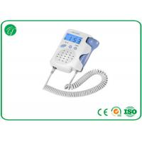 White Pocket Fetal Doppler Machine With Crystal Clear Sound LCD Backlight Manufactures