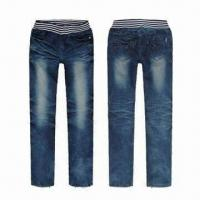 China Pajama Jeans for Men, with 11oz Weighs, Made of 100% Cotton, Available in Black on sale