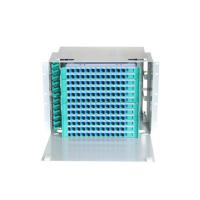"""144 Cores Optical Fiber Distribution Frame 19"""" Rack Mounted With Pigtails And Adaptors Manufactures"""