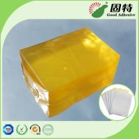 Quality Yellow transparent Block Synthetic Polymer Resin Industrial Strength Hot Glue , Medical Plaster Hot Melt Glue for sale