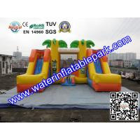 Tropical Tree Inflatable Bouncy Castle / Childrens Commercial Jumping Castles Manufactures
