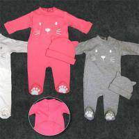 Fancy Cute Pajama Pure Cotton Baby Clothes 0 - 24months Foot For Home Use Manufactures
