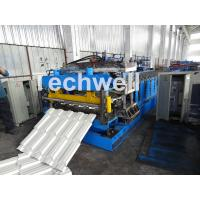 7.5KW Metal Tile Roll Forming Machine For Color Steel / Galvanized Coil Manufactures