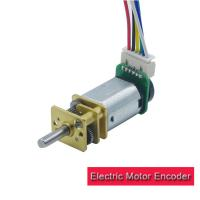 Buy cheap Smart Robot Servo Motor Encoder , 12mm N20 DC Gear Motor With Encoder from wholesalers