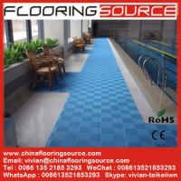 China Interlocking PVC Swimming Pool Mat Non silp safety mat Locker Room Mat Drain Water Mat on sale