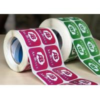 Durable Glossy Sticker Labels / Warning Label Rolled With Custom Logo Manufactures