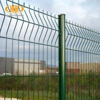 welded 3d curved wire mesh fence with peach- type post factory and exporter Manufactures